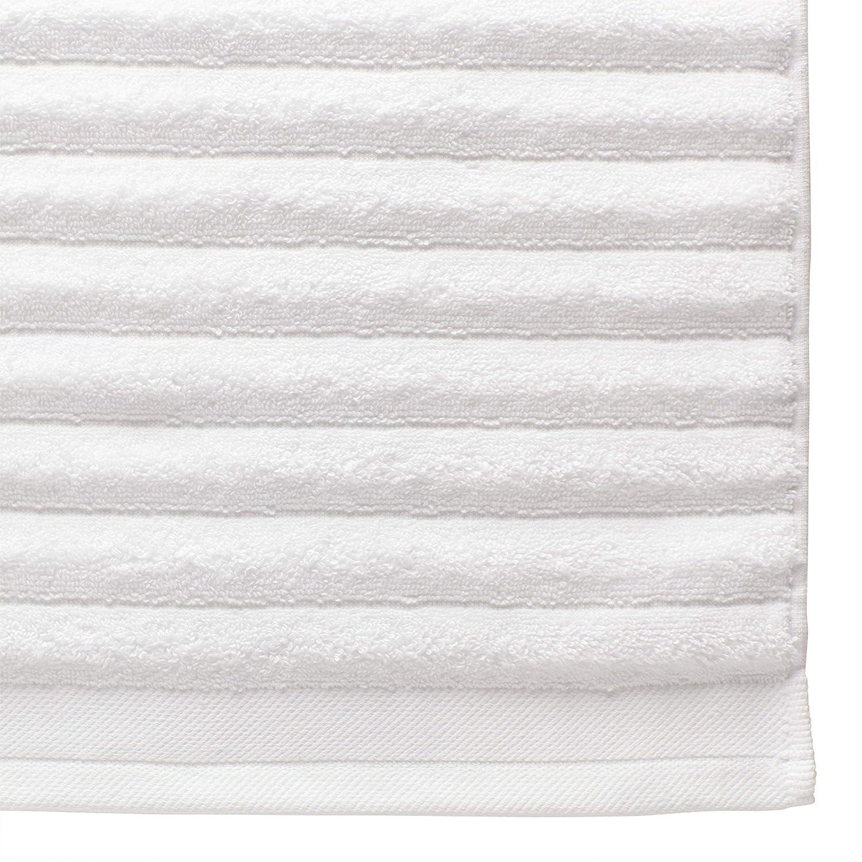 Rivet Chunky Rib Casual Bath Towel 54 x 30 Inch Set of 2 White
