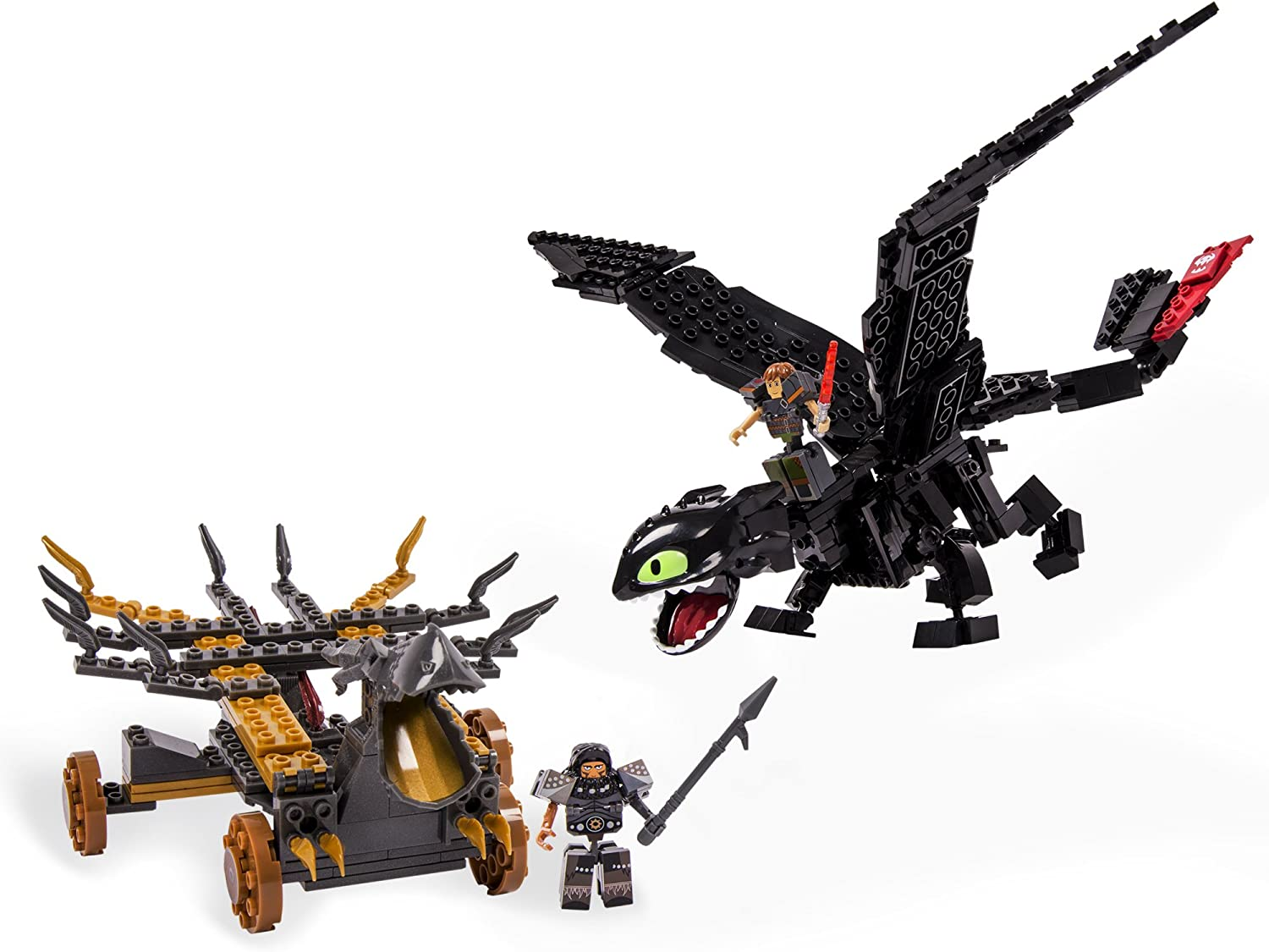 Amazon Com Ionix How To Train Your Dragon 2 Giant Toothless Battle Set Toys Games