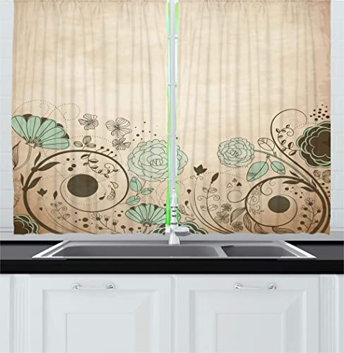 Ambesonne Abstract Kitchen Curtain