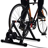 unisky Bike Trainer Stand Indoor Riding Steel Bicycle Exercise Stand 6 Speed Magnetic Resistance Stand for Road Bikes