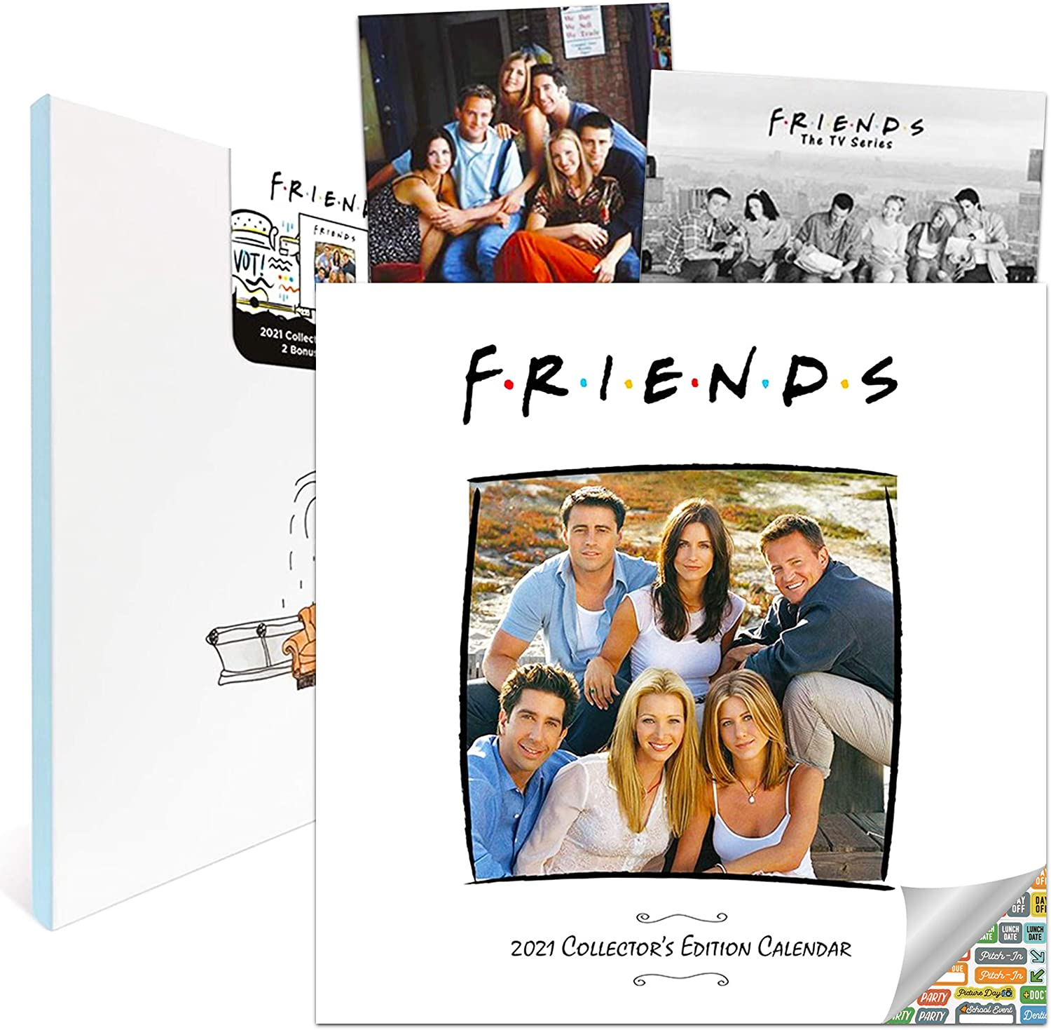 Friends Collector Calendar 2021 Bundle - Deluxe 2021 Friends Collector's Edition Calendar with Over 100 Calendar Stickers (Friends Gifts, Office Supplies)
