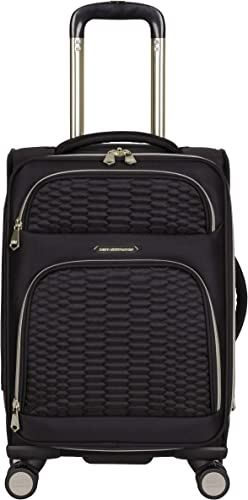Aimee Kestenberg Women s Florence 20 Softside Expandable 8-Wheel Carry-On Suitcase, Black, Inch
