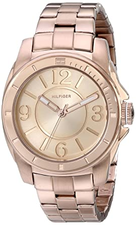9f15230f93bd Image Unavailable. Image not available for. Color  Tommy Hilfiger Women s  1781141 Sport Rose Gold Plated Stainless Steel Bracelet Watch