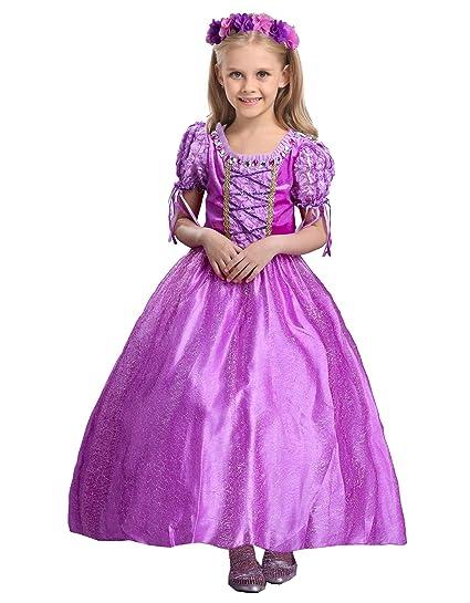amazon com fs girl s disney princess costume long dress up