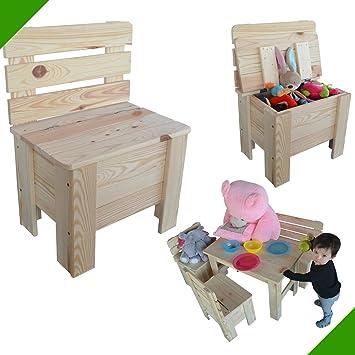 Silla Infantil Madera silla de jardín silla baúl Pino maciza – Silla de madera: Amazon.es: Bricolaje y herramientas