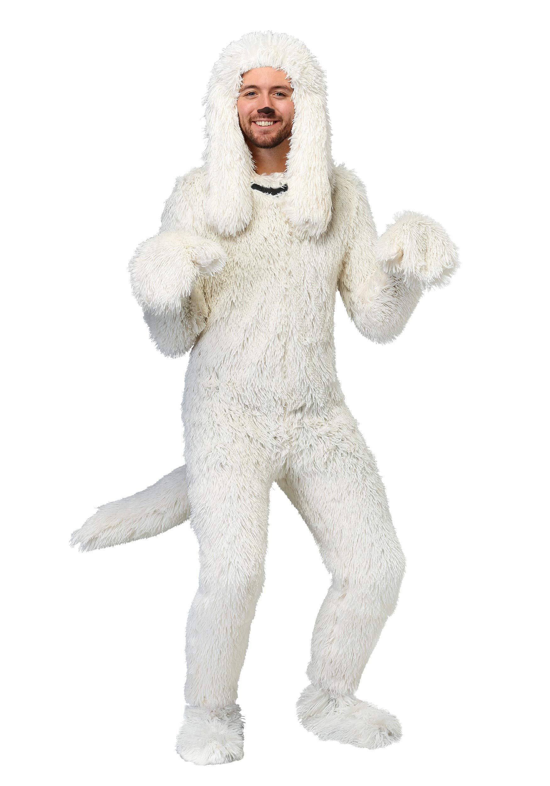 Shaggy Sheep Dog Adult Costume - M White by Fun Costumes