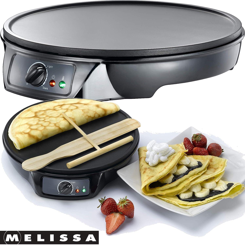 Melissa 16310146 Piastra per Crêpes Antiaderente Professionale Adexi