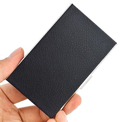 Amazon maxgear business card case holder for men or women maxgear business card case holder for men or women leather business name card holder fits 25 colourmoves