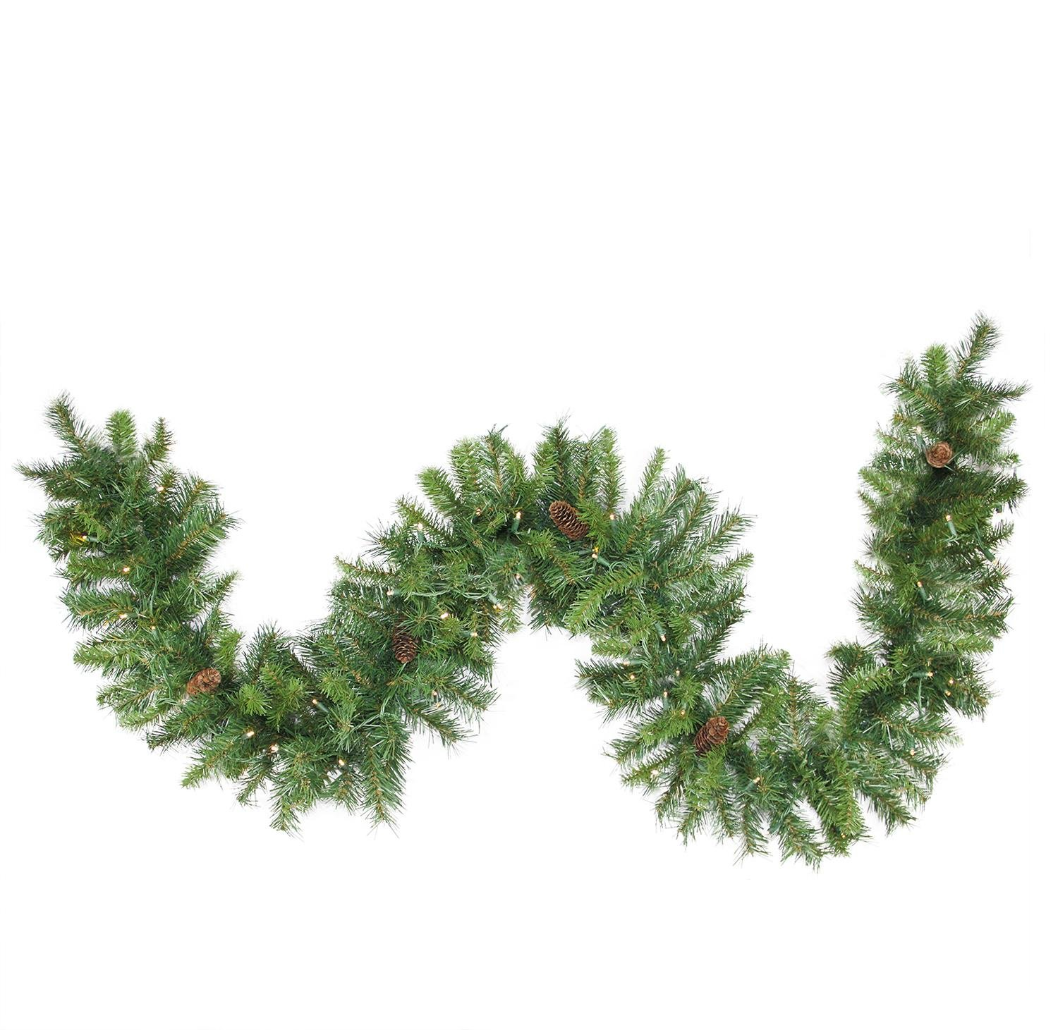 Northlight Pre-Lit Dakota Commercial Artificial Christmas Garland, 50' x 12'', Green by Northlight (Image #1)