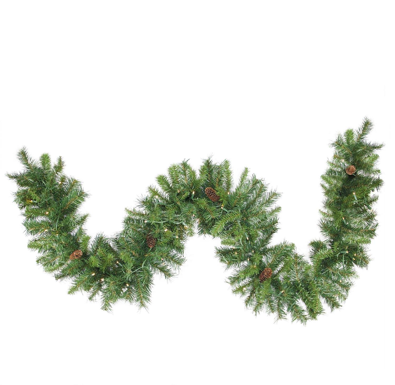 Northlight Pre-Lit Dakota Commercial Artificial Christmas Garland, 50' x 12'', Green