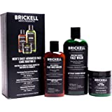 Brickell Men's Daily Advanced Face Care Routine II - Activated Charcoal Facial Cleanser + Face Scrub + Face Moisturizer Lotion - Natural & Organic