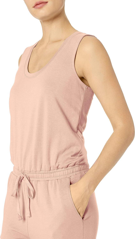 Essentials Womens Studio Terry Fleece Jumpsuit