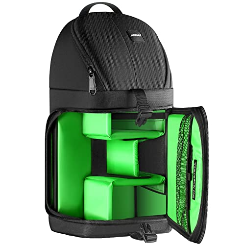 Neewer Professional Camera Case Sling Backpack for Nikon Canon Sony and Other DSLR Cameras and Lens,Tripod,Other Accessories,Durable Waterproof and Tear Proof Bag with Padded Dividers(Green Interior)