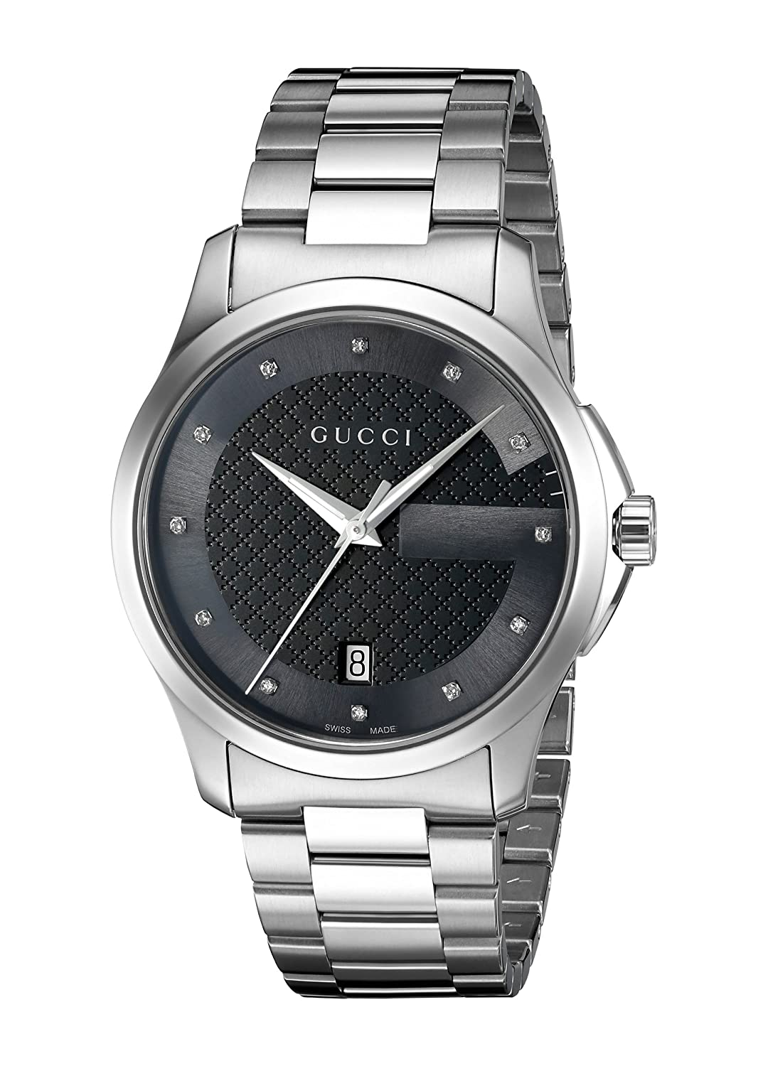 Gucci G-Timelss Quartz Stainless Steel Silver-Toned Watch Model YA126456