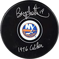"Bryan Trottier New York Islanders Autographed Hockey Puck with""1976 Calder"" Inscription… photo"