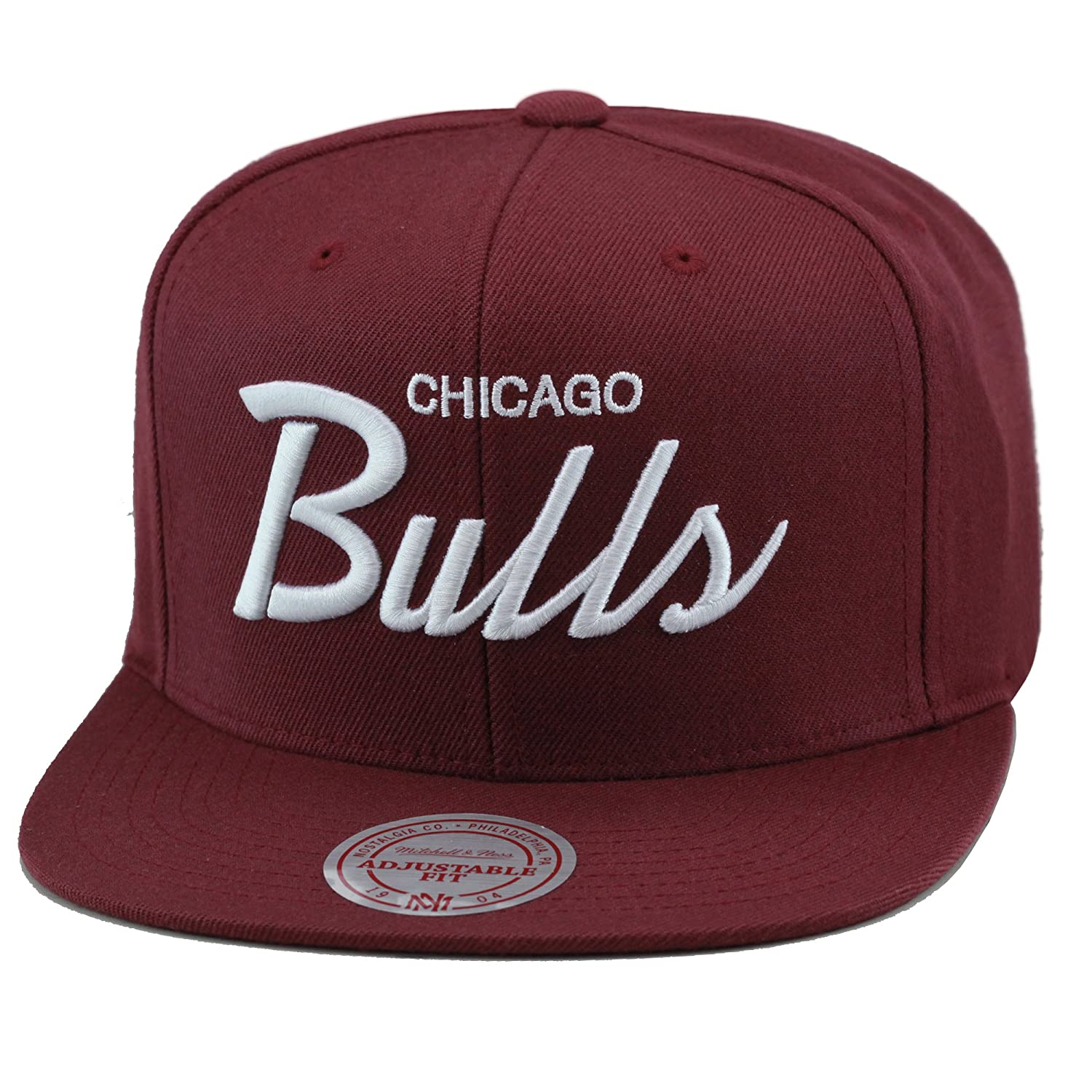 5927364ced6 Top11  Mitchell   Ness Chicago Bulls Snapback Hat Maroon White