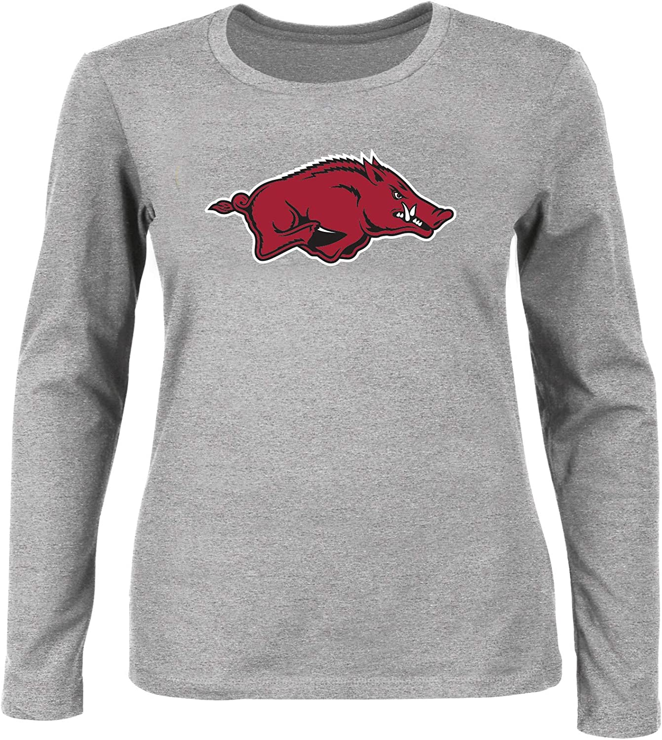 NCAA Womens Plus Size Scoop-Neck Long Sleeve Cotton Tee Shirt