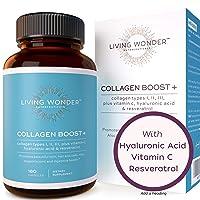Collagen Boost Plus - Collagen Pills for Women -180 Collagen Capsules with Vitamin...