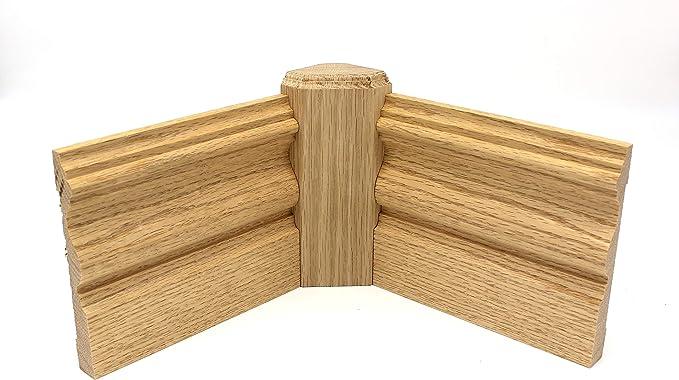 1 x 3 x 6 Oak Inside Radius Corner Base Block Trim Molding 5