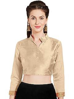 482bf4e64579df Women's Art Silk Readymade Saree Blouse Choli Mirchi Fashion Top