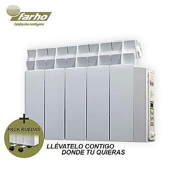 farho Radiador Electrico + Juego de Ruedas LPD • 525 W • Emisor Termico (Perfil Bajo) con!!! 20 AÑOS DE GARANTÍA!!!: Amazon.es: Hogar