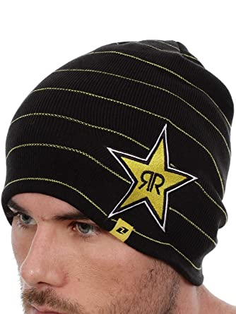 81d22787c19 ... order rockstar energy drink mens one industries stripes beanie hat cap  black 1cb9e 490c1 promo code for new era ...