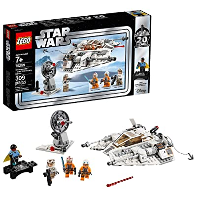 LEGO Star Wars: The Empire Strikes Back Snowspeeder – 20th Anniversary Edition 75259 Building Kit (309 Pieces): Toys & Games
