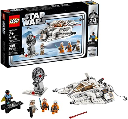 Amazon Com Lego Star Wars The Empire Strikes Back Snowspeeder 20th Anniversary Edition 75259 Building Kit 309 Pieces Toys Games