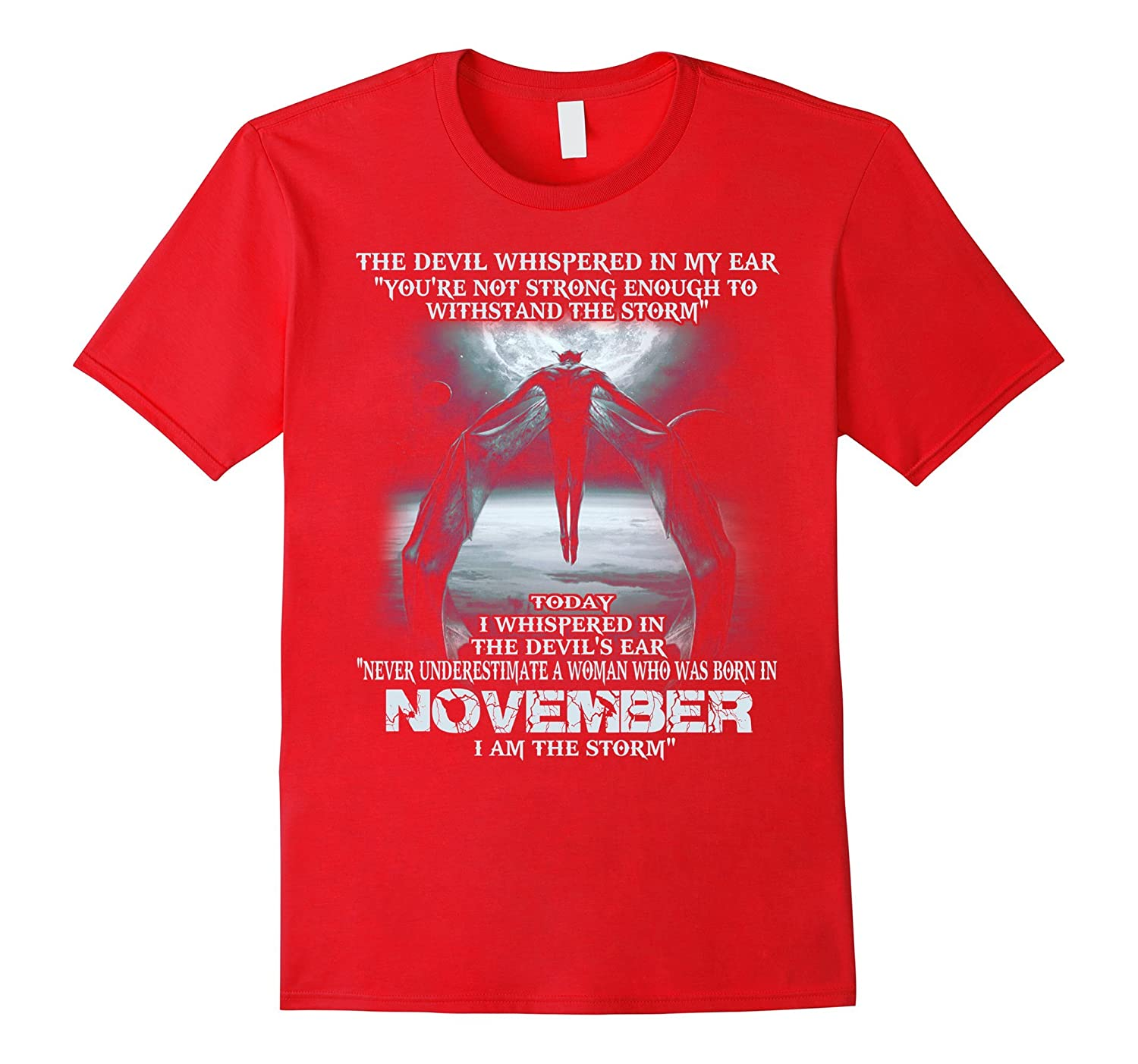 The Devil - born in November - the storm - Woman T-shirt-Art