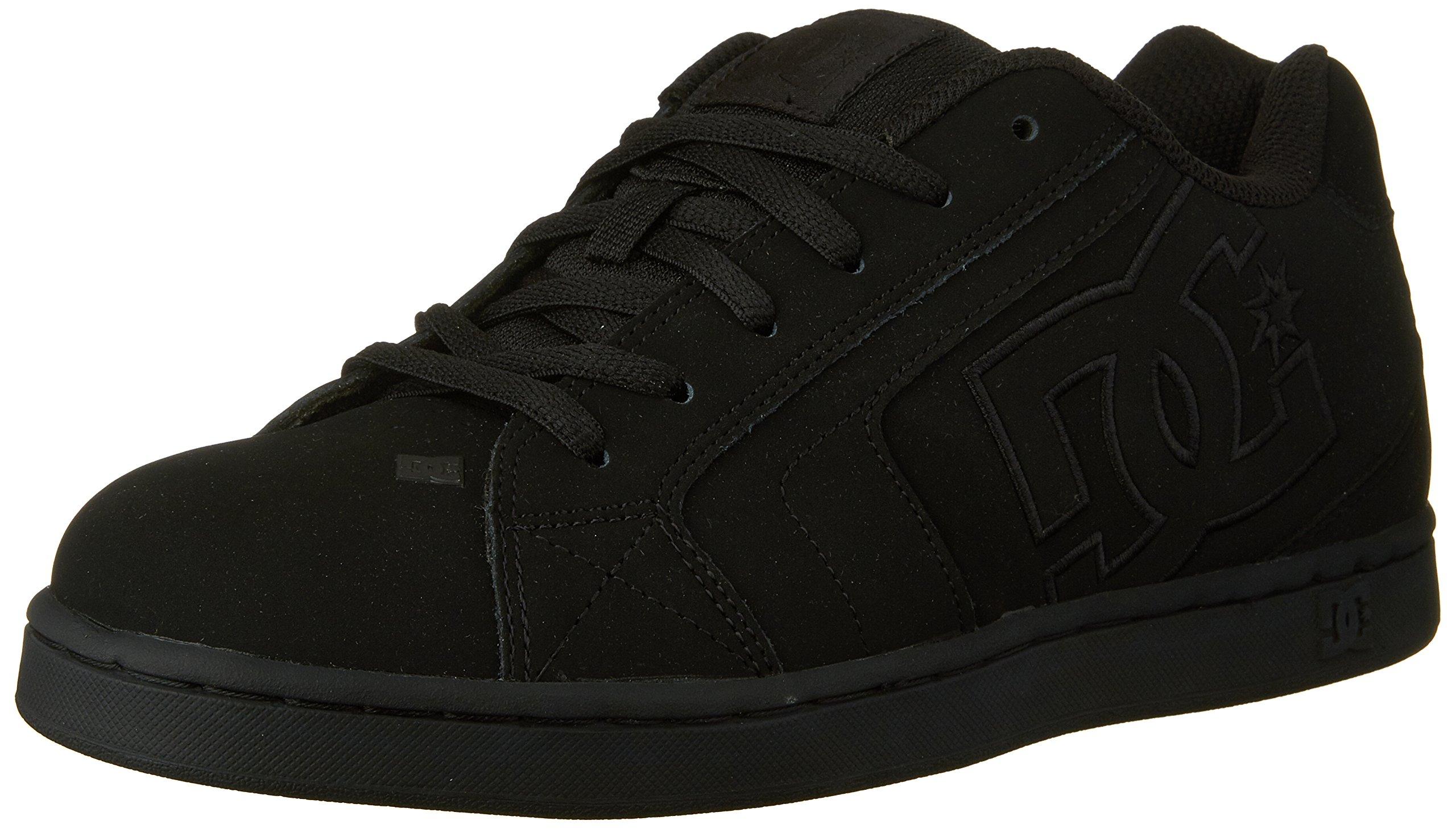 DC Men's Net Lace-Up Shoe, Black/Black/Black, 8.5 D M US
