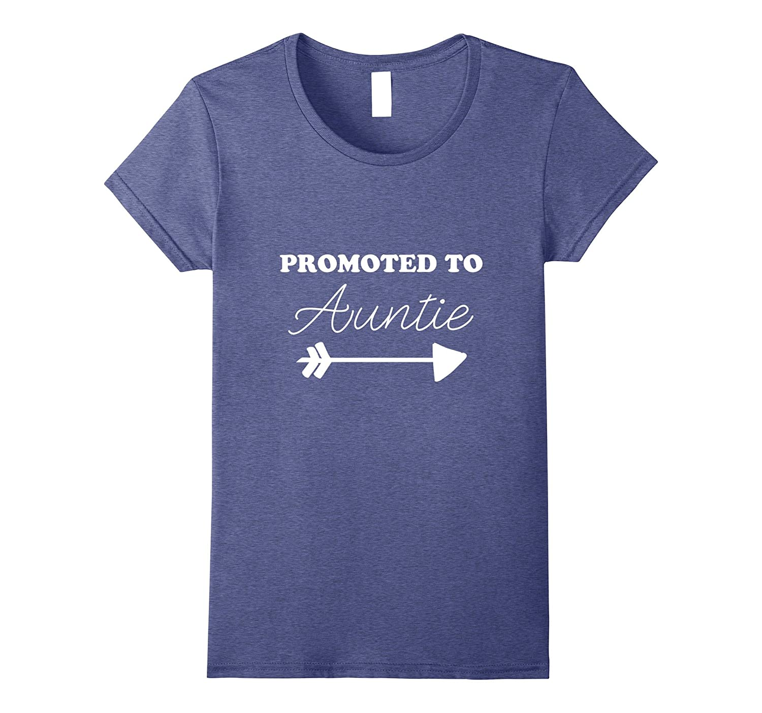 Womens Pregnancy Announcement TShirt Promoted To Auntie Cute Aunt-FL