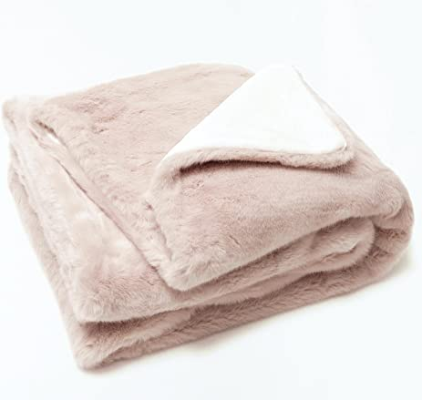 Blush Pink Throw Blanket Amazing Amazon Luxury Faux Fur Oversized Throw Blanket With Plush