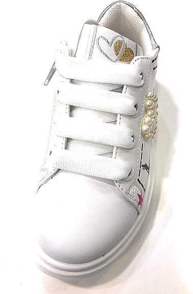 Asso Sneakers con Lacci e Cerniera Sottopiede in Vera Pelle 5400