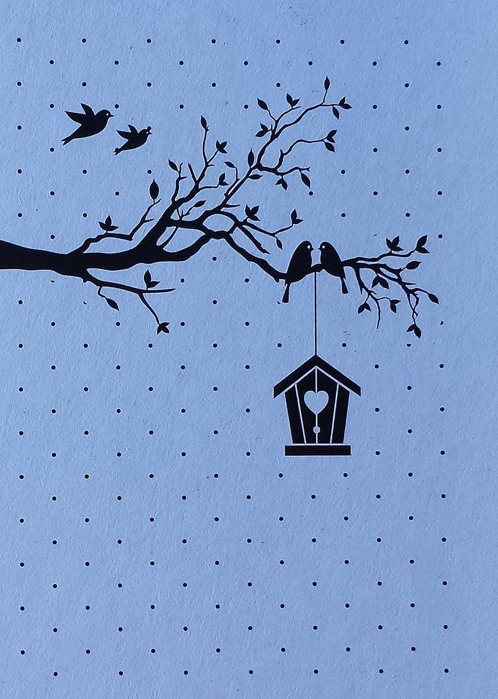 Classeur gaufrage fond cage /à oiseaux Nellie Snellen