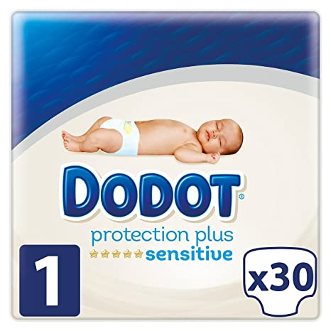Dodot Protection Plus Sensitive - Pañales, Talla 1 (2-5 kg), pack de 30