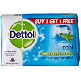 Dettol Cool Soap, 125g (Pack of 4) with Free Dettol Cool Soap, 125g