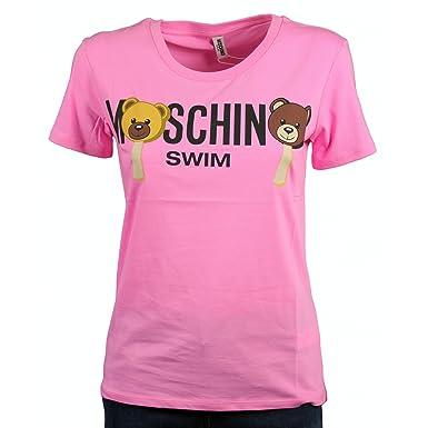 be7fd7f67b64 Moschino Damen T-Shirt Pink Rosa, Pink M  Amazon.de  Bekleidung