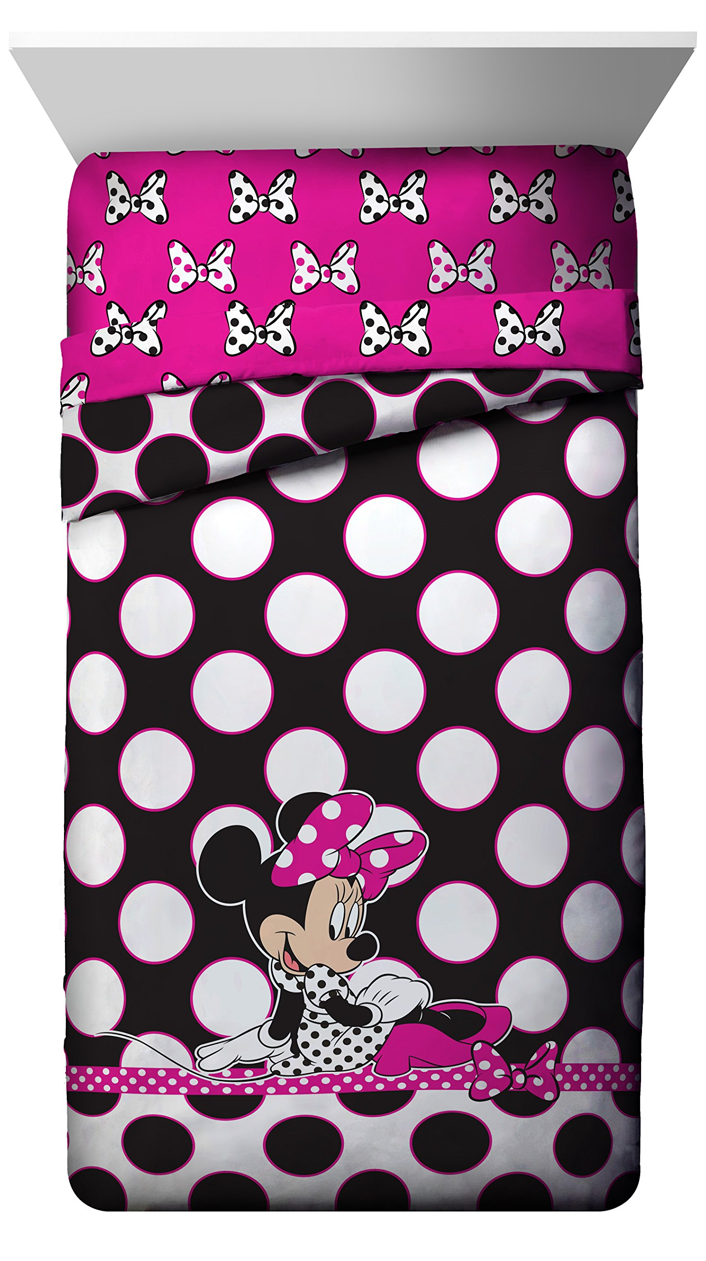 Disney Minnie Mouse Dots Are The New Black Twin/Full Reversible Comforter