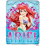 "Disney Princess Mermaid Ariel ""Coral Reef"" Micro Raschel Throw - 46""x60"""