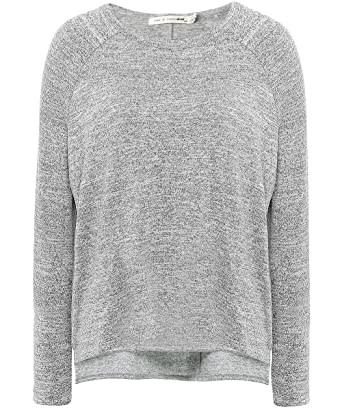 Rag & Bone/jean Woman Camden Two-tone Jersey Top Light Gray Size S Rag & Bone Buy Cheap The Cheapest Pictures S9qImYj9SS
