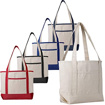 100% satisfaction guarantee good looking high fashion 12 Pack - Heavy Duty Canvas Deluxe Tote Bags BULK Wholesale tote bags  Canvas bags Lot Cheap Tote Bags Customizable Reusable Grocery Shopping Tote  Bags ...