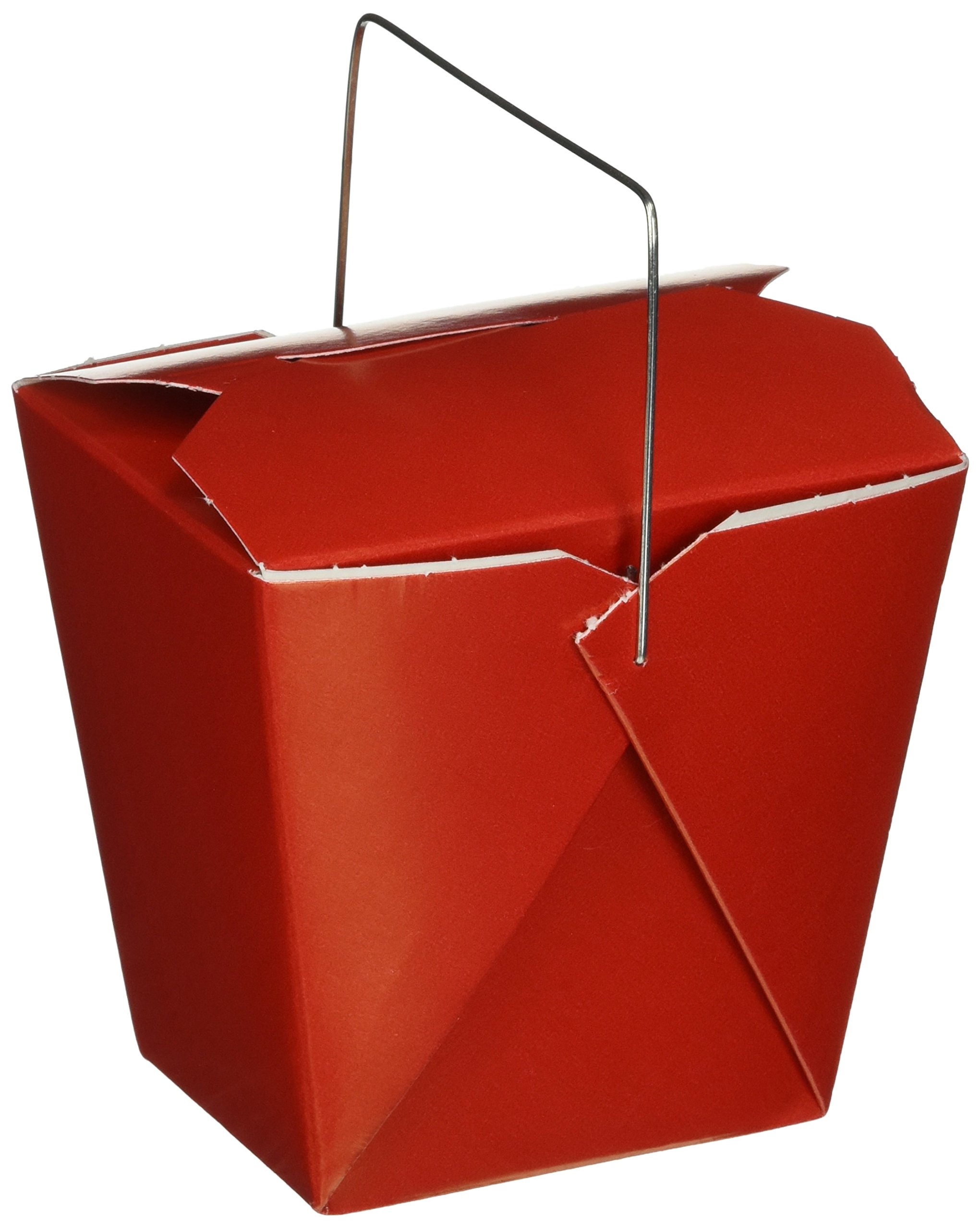 Oasis Supply 50-Chinese Take Out Boxes for Party Favor and Food Pail, 16-Ounce, Red