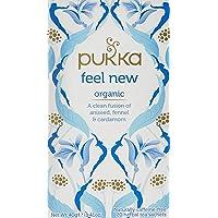 Pukka Feel New, Organic Herbal Tea with Aniseed, Fennel & Cardamom, 20 Tea Bags