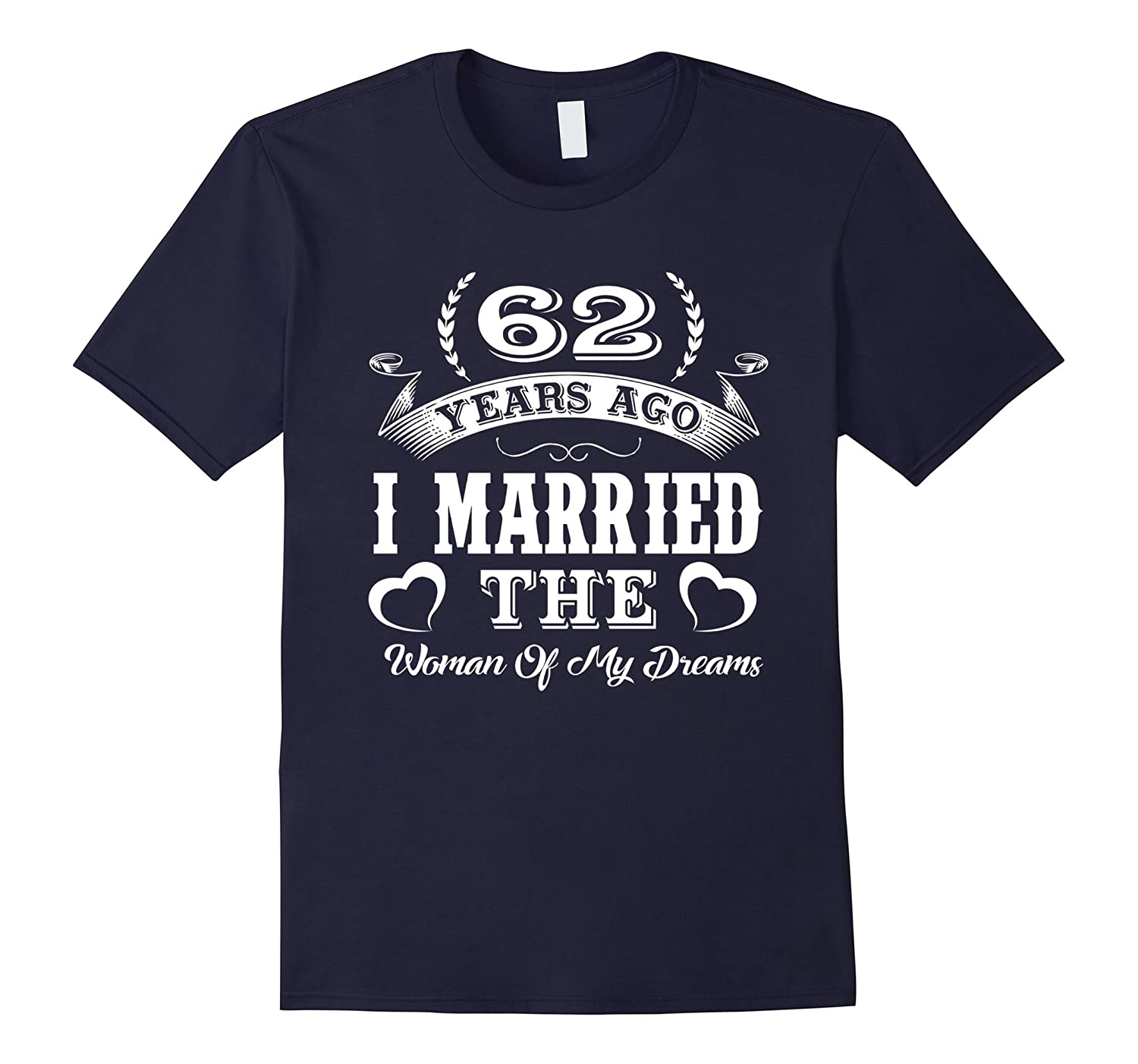 62nd Wedding Anniversary Gifts. T shirts For Couples.-Art