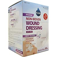 PLAID W6070 Young Non Woven Dressing with Pad 6 CM x 7 CM, 50 PCS, 50 count