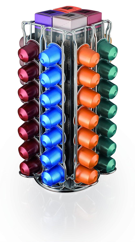 MACOM Just Kitchen 837 Totem Coffee Nespresso Dispenser Portacapsule per Macchine Caff/è acciaio cromato 56 capsule