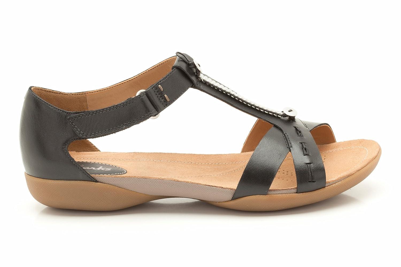 66b95c9a4957 Clarks Raffi Magic Black Leather 4 UK D   37 EU  Amazon.co.uk  Shoes   Bags