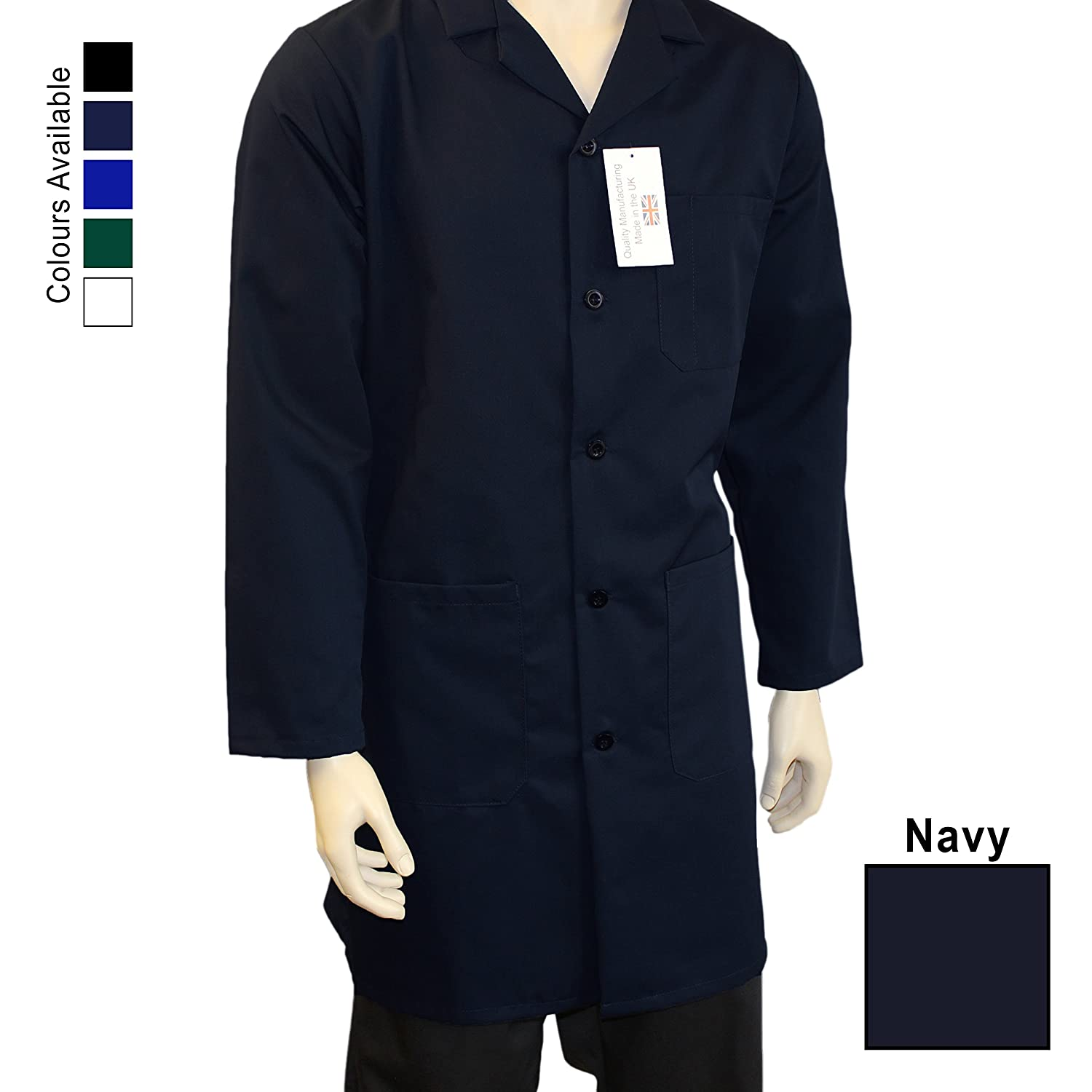 WSC Workwear Warehouse Unisex Coat - Fastened With 5 Buttons, Back Vent For Ease Of Movement