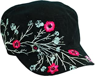 3718036c Scala Pronto Women's Cadet With Flower Embroidery Cap