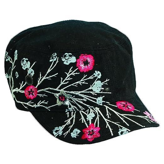 Scala Pronto Women s Cadet With Flower Embroidery Cap 08c8e3220dae